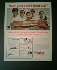1967 Daisy Air Rifle Jaycees B~B Gun Champions~Toy~Bet You Can't Beat Us ! AD
