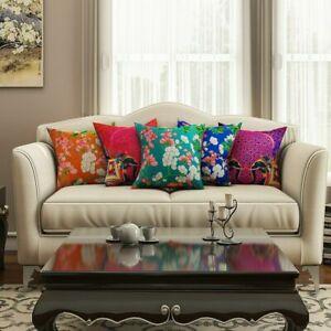 HD Digital Printed Premium Cotton 16X16 Inches Multicolor Cushion Covers(5Pcs)