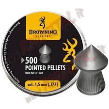 PIOMBINI BROWNING DIABOLO CAL 4.5 mm TESTA a PUNTA 500 PZ ARIA COMPRESSA AIRGUN