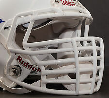 JUSTIN TUCK style Riddell Revolution SPEED Football Helmet Facemask - WHITE