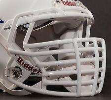 JUSTIN TUCK style Riddell Revolution SPEED Football Helmet Facemask - WHITE