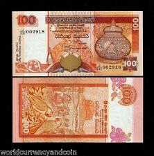 SRI LANKA CEYLON 100 RUPEES P118 2001 BIRD UNC WORLDCURRENCY MONEY BILL BANKNOTE