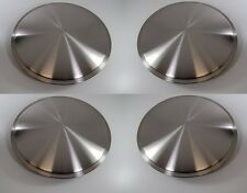 "14"" Full Moon Hub Caps Racing Disc Salt Flats Spun Stainless Full Wheel Covers"