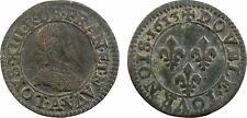 Louis XIII, double tournois, 1613, Paris, 067