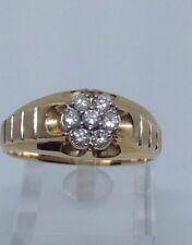 mens diamond ring 14kt Yellow Gold