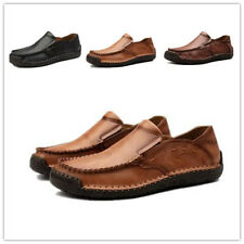 Mens Leather Round Toe Driving Moccasins Leisure Shoes Casual Outdoor Gommino 48