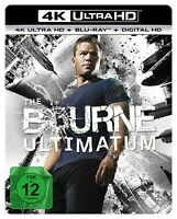 DAS BOURNE ULTIMATUM - 4K 2 ULTRA HD BLU-RAY NEW  MATT DAMON/ALBERT FINNEY/+