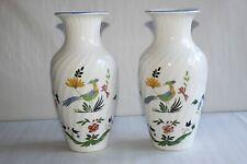 Paire de vases en faïence de Gien Oiseau de Paradis Hauteur 26 cm