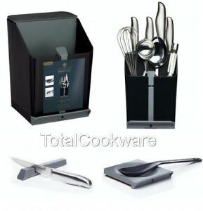 MasterClass Best Smart Space 4 in 1 Kitchen Knife BLACK Utensils Storage Caddy