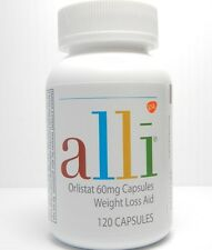 NEW ALLI ORLISTAT 120 CAPSULES BRAND NEW FACTORY SEALED BOTTLE ON SALE