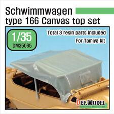 DEF Model 1/35 Schwimmwagen Type 166 Canvas Top Set for Tamiya kit