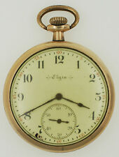 Vtg Elgin 12s 7J Grade 303 Model 3 Class 114 GF OF Pocket Watch Gold Filled 1904
