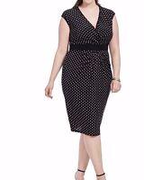 IGIGI Gabby Stretch Jersey Sheath Dress In Polka Dots Size 14/16