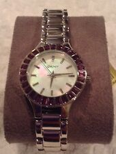 DKNY MOTHER OF PEARL WOMENS WATCH