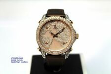 Jacob & Co. FIVE TIME ZONE JCM47-SRWR DIAMOND ROSE GOLD WATCH LIMITED EDITION
