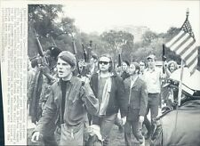 1971 Press Photo Vietnam Veterans Against The War Rally Fake Guns Boston