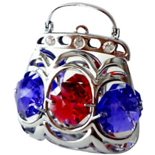 Crystocraft Purse Bag Crystal Ornament With Swarovski Elements Gift Boxed