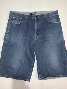Ecko Unltd Denim Shorts Mens Size 40 Vintage Baggy Fit Loose Denim Blue