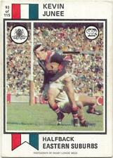 1974 Nrl Rugby League Scanlens (93) Kevin JUNEE Eastern Suburbs *