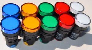 LED Leuchtmelder Ø 22mm 12V 24V 220V verschiedene Farben  LED Signalleuchte