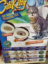 Citikitty Cat Toilet Seat Training System - city kitty - save $ on litter