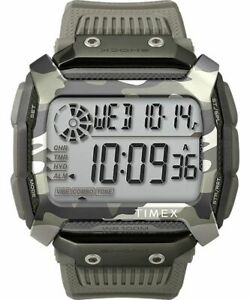 TIMEX Command Shock 54mm Resin Strap Watch, Camo Gray - TW5M18300