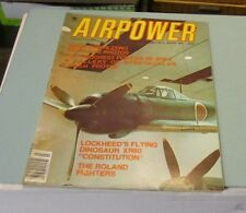 March 1977 Airpower Magazine Roland Fighters Lockheed XR60 Constitution Dinosaur
