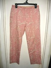 J Crew Pink White Paisley Favorite Fit Pants Size 4