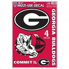 "Georgia Bulldogs 11"" x 17"" Multi Use Decals - Auto, Walls, Windows, Cornhole"