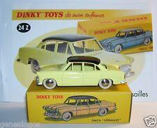 DINKY TOYS ATLAS SIMCA VERSAILLES BICOLORE JAUNE TOIT NOIR 1/43 REF 24Z IN BOX b