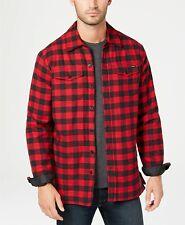 Dickies Men's Sherpa Fleece Lined Plaid Flannel Shirt Jacket