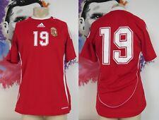 Match worn issue Hungary 2009 home Shirt Adidas Magyar #19 size M v Romania