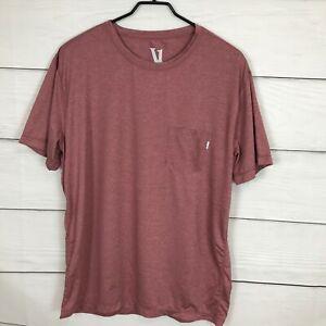 Vuori Men's Size XL Tradewind Performance Tee T Shirt Red Short Sleeve Athletic