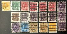 CANADA 1911-1925 #s 105xx/118xx - KING GEORGE V - 19 PRE-CANCELS