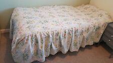 Vintage St Michael Single Bed Valenced Quilt Floral Butterflies