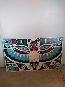 Pacific Northwest Original Native American Original Art signed  Josephine carter