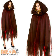 Deluxe Hooded Cape Ladies Halloween Fairy Tale Womens Adults Costume Accessory