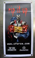 Ripclaw Cyberforce Poster Screen Print cforce Top Cow 16 x 30.5