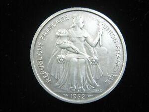 FRENCH OCEANIA 5 FRANCS 1952 POLYNESIA TAHITI 028# MONEY COIN