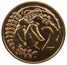 (G75) - Neuseeland New Zealand - 2 Cents 1969 - Schnurbaum - PL - KM# 32.1