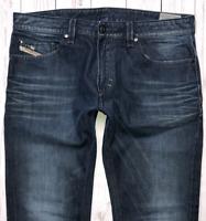 Mens DIESEL Thavar Jeans W34 L32 Blue Slim Skinny Fit Wash 0817G