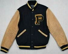 Polo Ralph Lauren Leather Patch Navy Letterman Varsity Lightly Warn With Tag.
