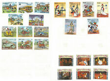 ST. VINCENT STAMP LOT ON ALBUM PAGE BOTH SIDES. DISNEY, BEAUTY & THE BEAST, ETC.
