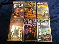 6 FANTASTIC BOOKS by DAVID WEBER ** UK POST £3.25 ** PAPERBACKS