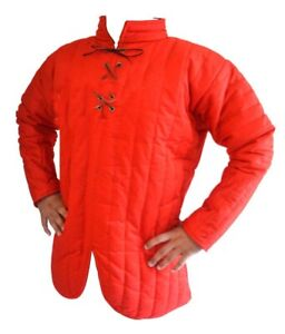 Red Gembesion Full Padded Gambeson Front Close gift for halloween