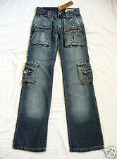 Jeans cargo donna DNA con grandi tasche XXS (IT 36) Low rise jeans Made in Italy