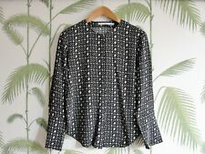 & Other Stories Woman Black Patterned Blouse - Size 34 (= UK Size 8)