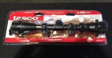 Tasco 3-9 x 40mm Rifle Scope with Rings, Weaver Style Bases, Black Matte, New