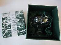 NEW Eamon Glass Hand Engraved Pedestal Candy Dish Bowl Dublin Ireland Gift Box