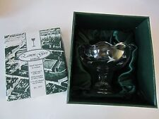 NEW Eamon Glass Hand Engraved Pedestal Candy Dish Bowl Dublin Ireland Gift Box